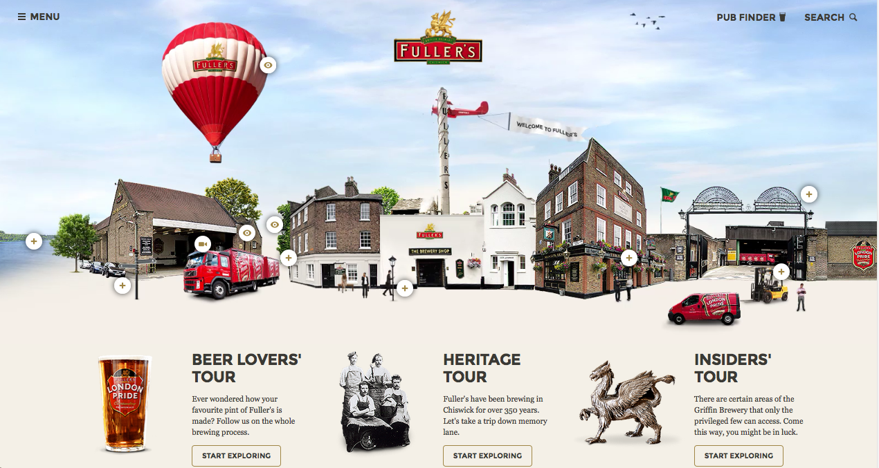 Virtual tour home page
