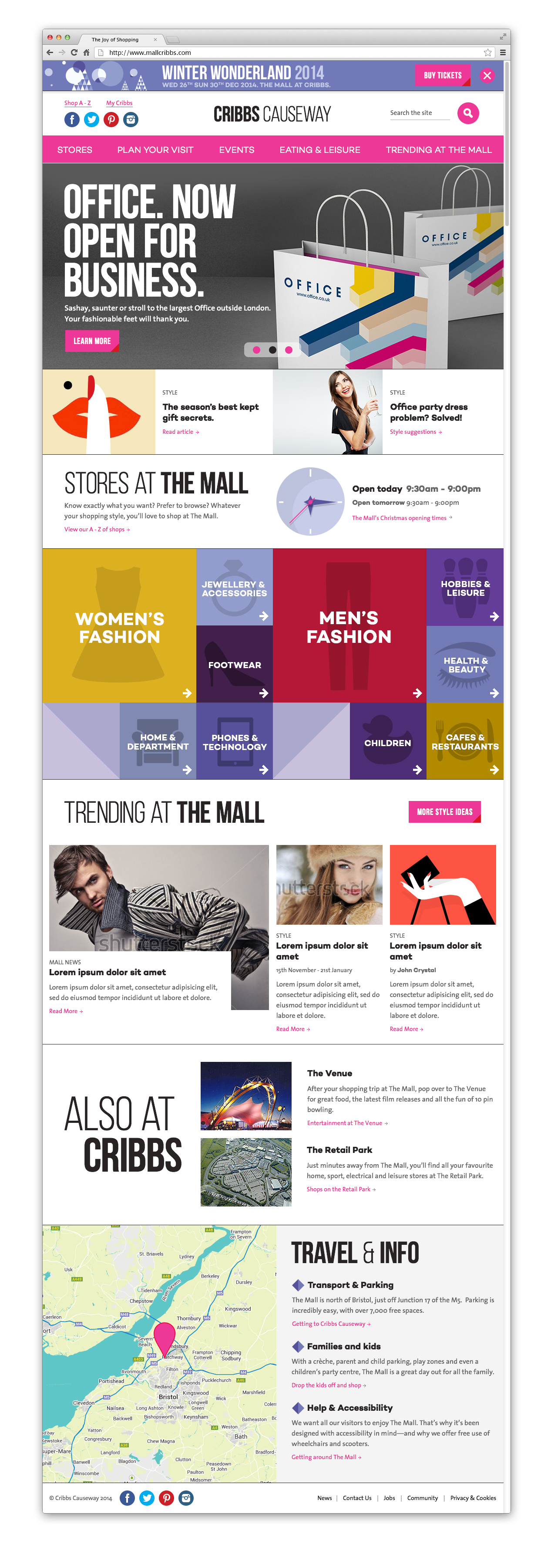New store page template