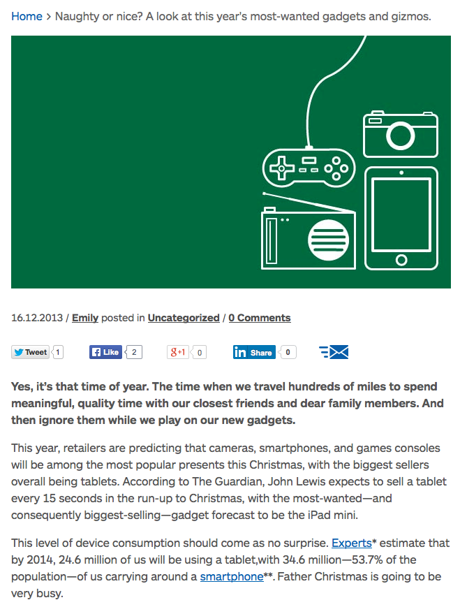 """From """"Naughty or nice? A look at this year's most-wanted gadgets and gizmos."""""""
